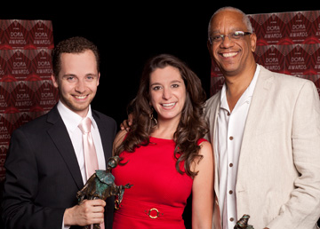 Mitchell Marcus (Artistic Producer, Acting Up Stage), Elenna Mosoff (Associate Producer, Acting Up Stage), Philip Akin (Artistic Director, Obsidian Theatre)