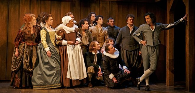 Members of the company in Shakespeare in Love. Photography by David Hou.