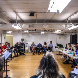 The rehearsal room Photo by: Dahlia Katz
