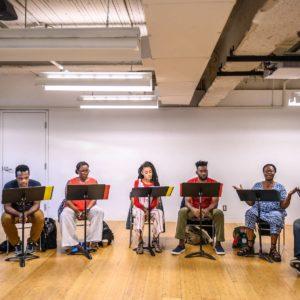 Meghan Swaby, Christopher Parker, Nadine Roden, Mercedes Morris, Daren A. Herbert, Arlene Duncan & Jeremiah Sparks. Photo by: Dahlia Katz